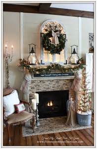 from my front porch to yours cozy farmhouse christmas mantel welcome home christmas tour