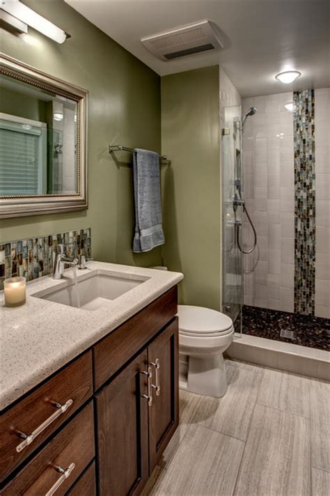 small master bath bellevue contemporary bathroom