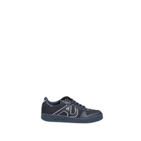 armani shoes armani shoes tennis leather in blue for lyst
