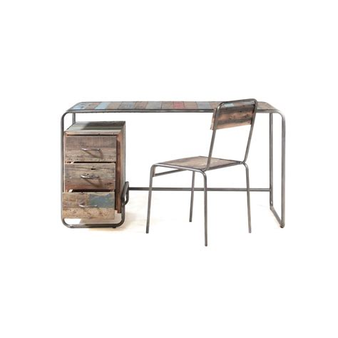 Reclaimed Office Desk New York Loft Style Industrial Office Writing Desk Reclaimed Wood