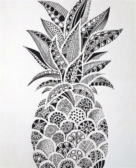 pineapple sketch