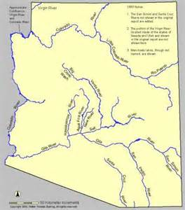 map of arizona rivers salado theory classic hohokam