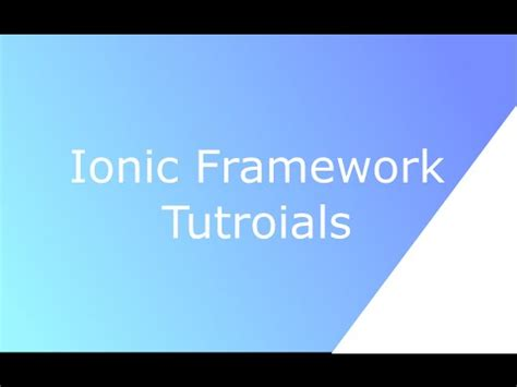ionic tutorial playlist ionic framework tutorial implement list with search