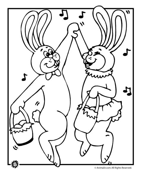 coloring pages dancing animals dancing easter bunnies coloring page animal jr