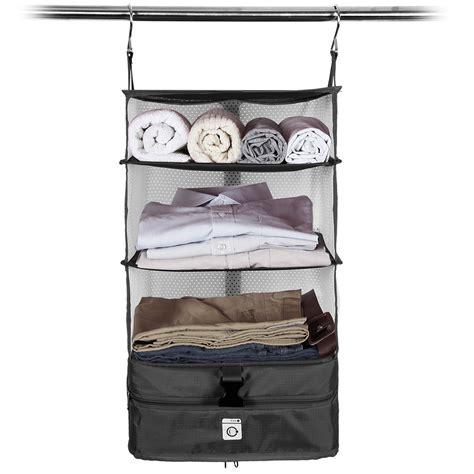 new portable travel closet packable shelves for suitcase