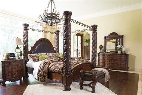 big post bed king size north shore california king north shore 6 piece king bedroom set w canopy by ashley