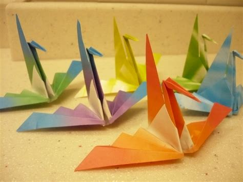 Useful Origami Crafts - wavy wing origami crane useful origami useful origami