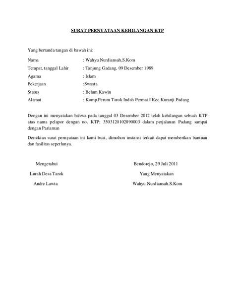 format surat pernyataan belum bekerja contoh surat pernyataan