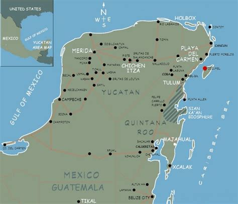 east coast of mexico map map of yucatan peninsula mexico east coast