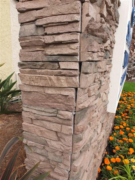Faux Stone installation