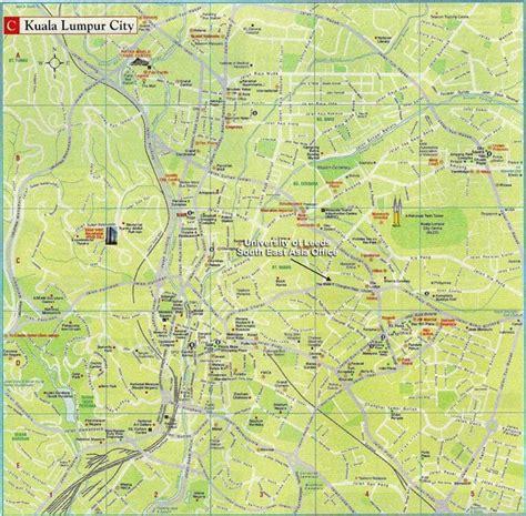 kuala lumpur city tourist map kuala lumpur city malaysia