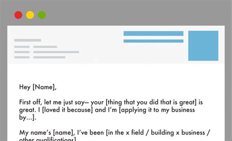 simple email template how a simple cold email makes networking easy