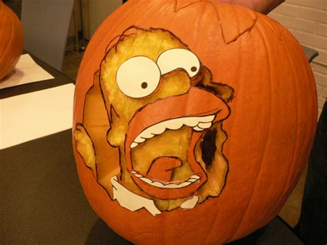 homer pumpkin template pumpkin carving senses lost