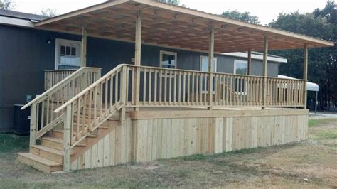 Awnings Richmond Covered Deck 16x20 With Metal Roof Double Wide Queen