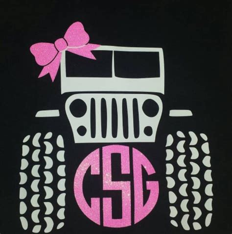 Jeep Initials Jeep T Shirt With Monogram