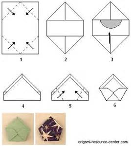 origami cd cover pentagon shape