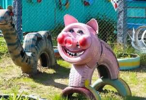 Upcycled Yard Decor Tire Recycling Ideas 23 Animal Shaped Garden Decorations