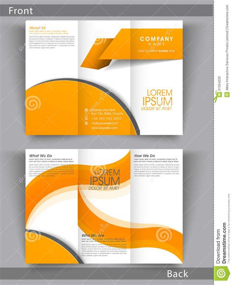 2 page flyer template professional business trifold brochure or template design