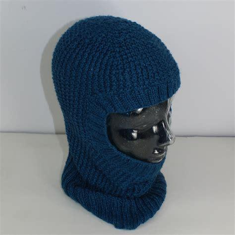 knit balaclava 4 ply unisex textured balaclava circular knitting pattern