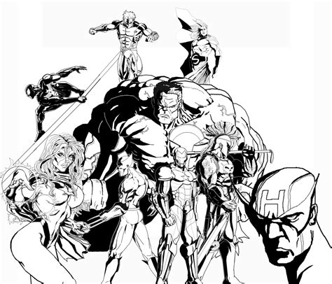 Dark Avengers Coloring Pages | the dark avengers with rulk by ruga rell on deviantart