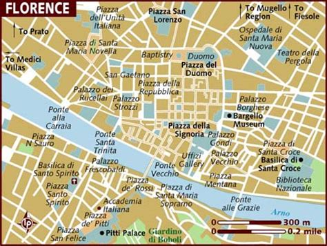 florence italy map map of florence