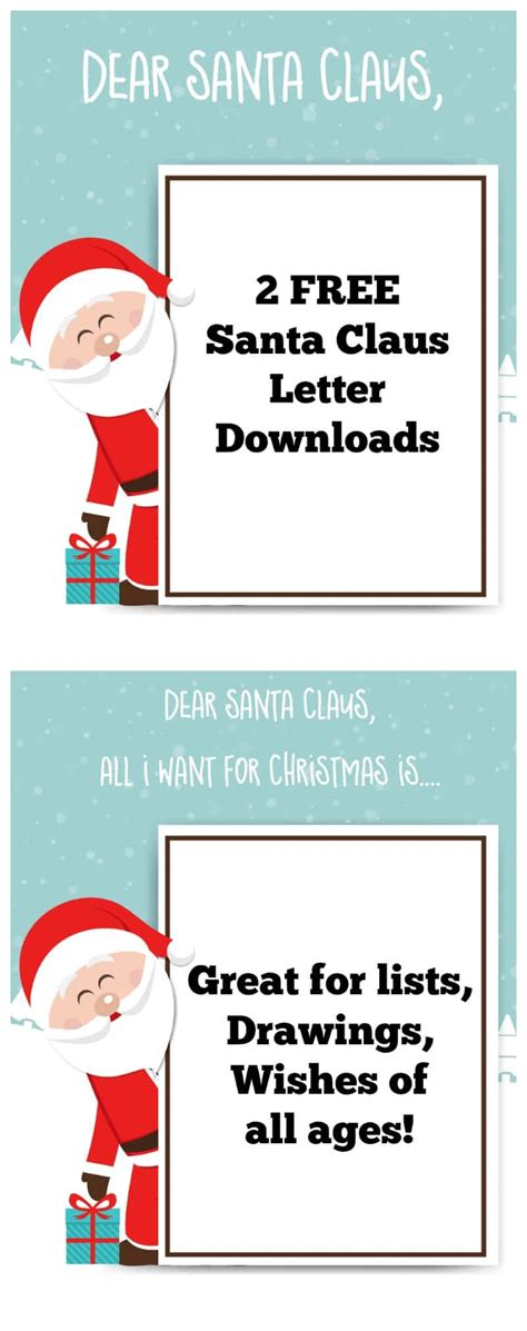 santa claus list template santa claus letter free printable for momdot