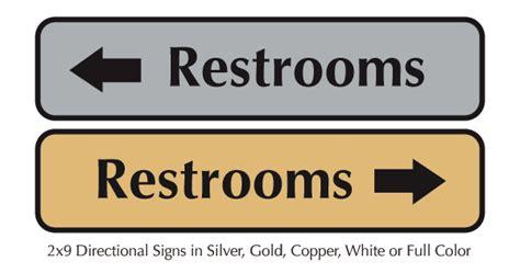 bathroom plaques restroom and bathroom directional door signs metal