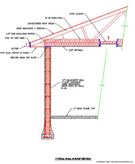 truss section wood trusses sips roof attachment design details to