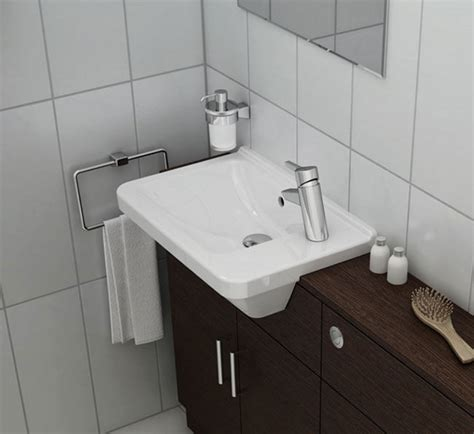 Designer Radiators For Kitchens by Vitra S50 Compact Semi Recessed Basin Right Hand