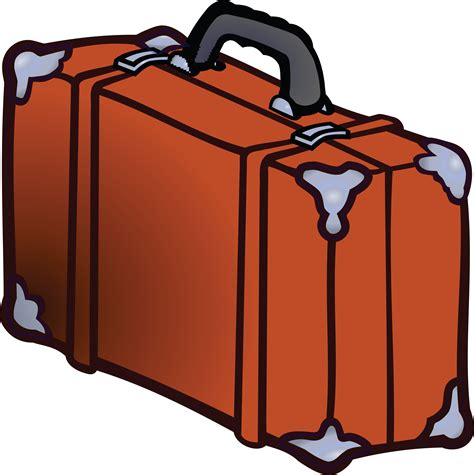 suitcase clipart suitcase clipart orange pencil and in color suitcase