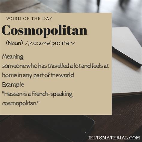 cosmopolitan word cosmopolitan word of the day for ielts