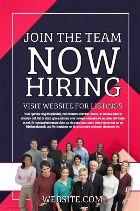 Now Hiring Template Postermywall Hiring Ads Templates