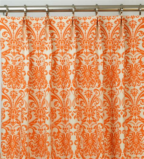 Orange Patterned Curtains Orange Pattern Curtain