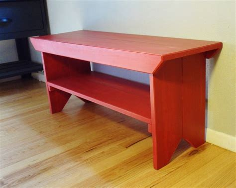 red wood bench wood red bench 140 00 via etsy tv unit pinterest