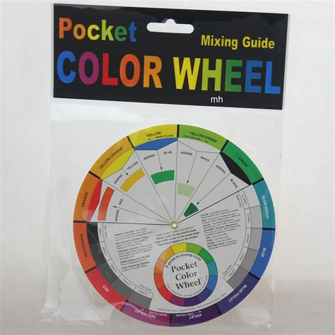 artists color wheel pocket colour wheel paint mixing watercolour acrylic aid ebay