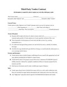 Third Party Agreement Template 8 vendor contract template timeline template