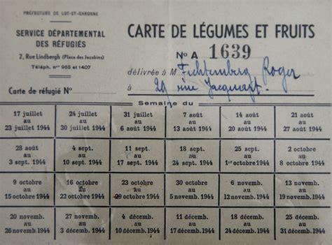 Tickets De Rationnement by Cartes Et Tickets De Rationnement