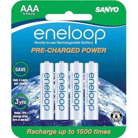 Baterai Batere Sanyo Enelop Aa Rechargeable Bisa Di Cas Ulang 1 sanyo eneloop rechargeable aaa ni mh batteries sec hr4u8bpn b h