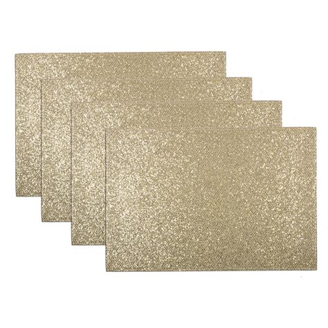 Table Placement Mats by Set Of 4 Sparkly Glitter Place Mats Dinner Table