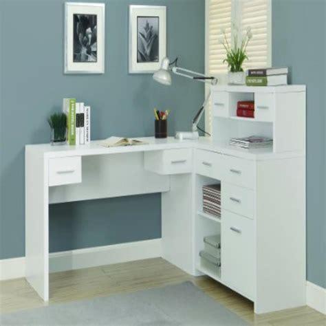 White Hollow Core L Shaped Home Office Desk White Hollow Desk