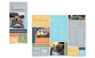 homeless shelter brochure template design