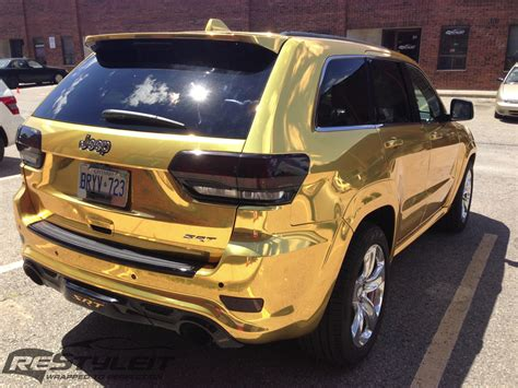 2000 gold jeep grand cherokee 2014 jeep grand cherokee srt8 wrapped in gold chrome