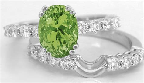 Peridot Engagement Rings by Peridot And Engagement Rings White Gold Gr 3114