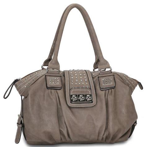 Designer Purse Deal Temperley Studded Bag by Camel Designer Inspired Metal Studded Soft Leatherette