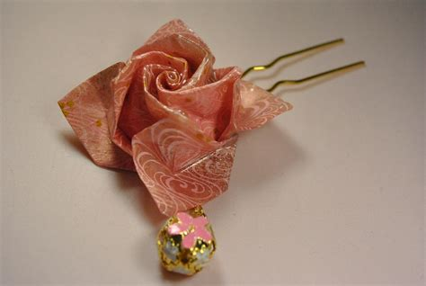 Origami Accessories - origami twirl hair pins pinks 183 hikari wo sagasu