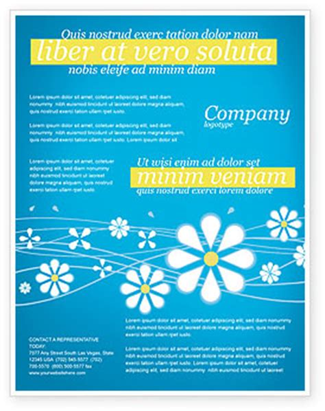 spring flyer template background in microsoft word