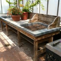 Potting Bench For Sale Dishfunctional Designs Salvaged Wood Amp Pallet Potting Benches