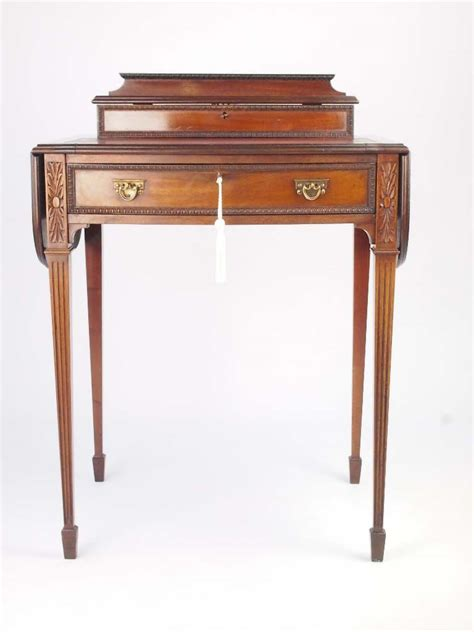 Small Vintage Writing Desk Small Antique Mahogany Ladys Writing Desk