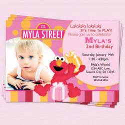 elmo birthday invitation sesame by cupcakedream