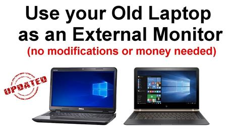 how to use your laptop as an external monitor